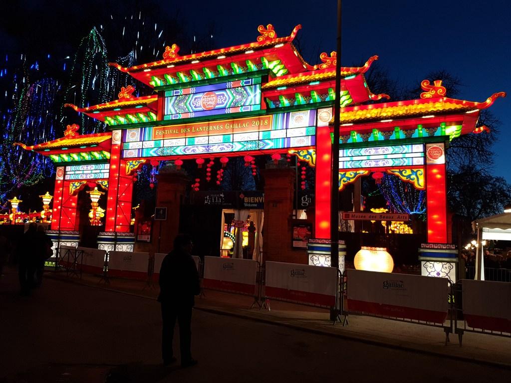 Entrée du festival des lumières