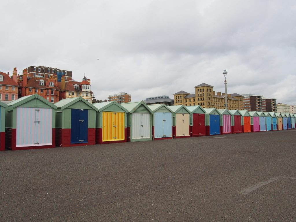 Beach huts in Brighton