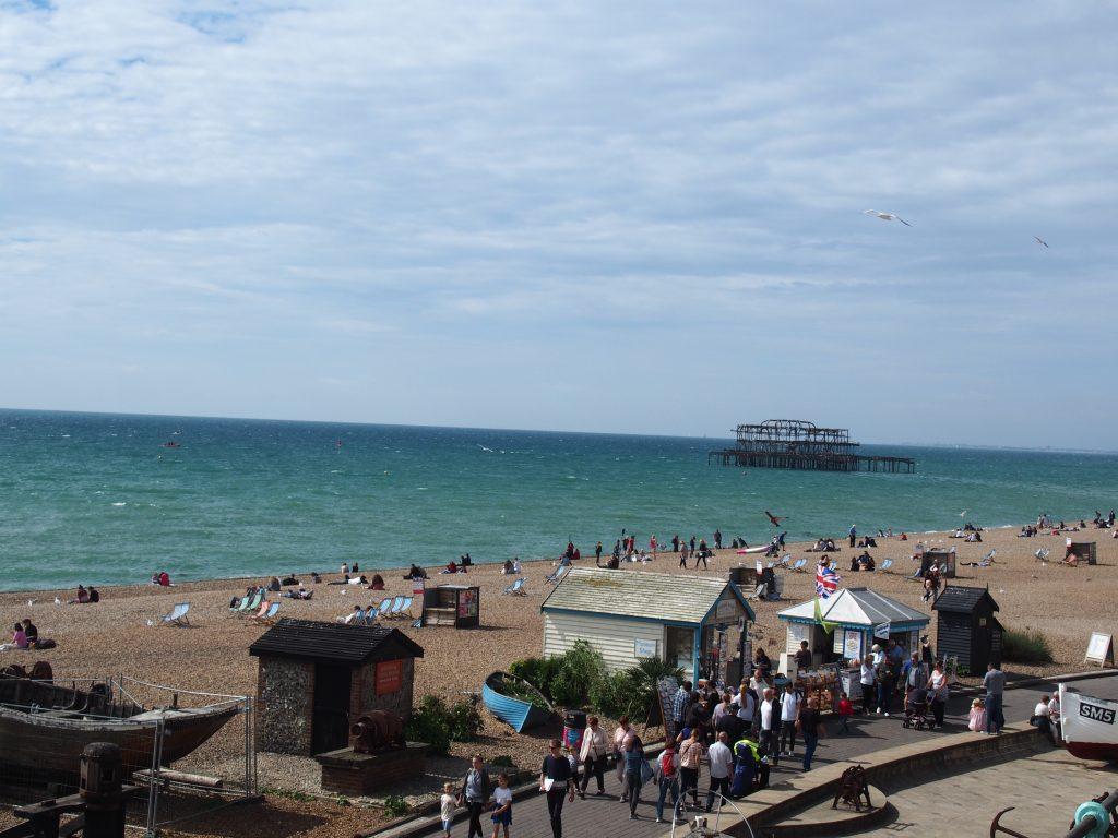 Brighton le long de la plage