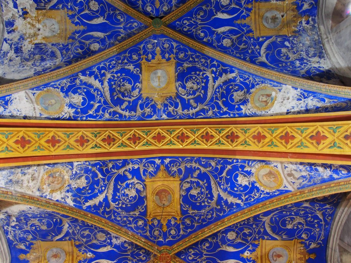 Plafond Eglise Sainte Corneille - Puycelsi