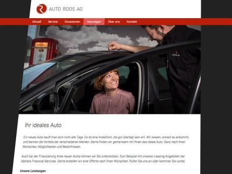 Website für Auto Roos AG