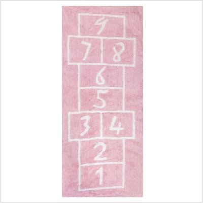 tapis marelle rose