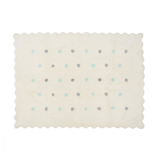 tapis enfant beige petits pois multicolore