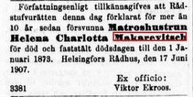 helena-makarewitsch-julistettukuolleeksi