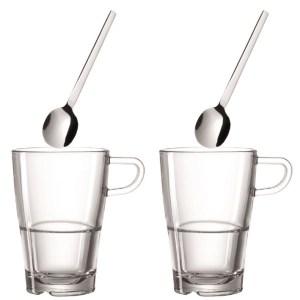 Kaffeset – Kaffekopp och sked x 2 – Latte Macchiato