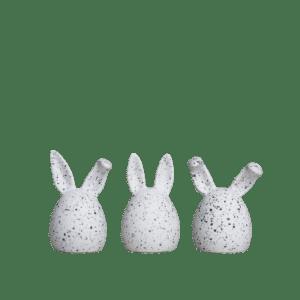 Triplets 3-pack white dot