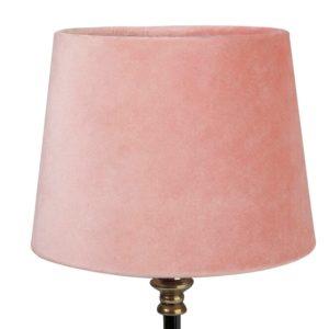 Lampskärm sammet rund 16x20x15cm mörkrosa