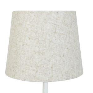 Lampskärm linne rund 16x20x15cm beige