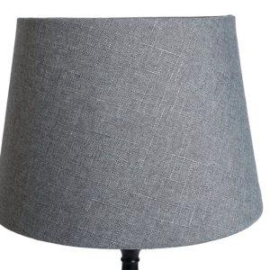 Lampskärm linne rund 27x35x25cm grå