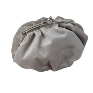 Börs/väska sammet beige 17×10
