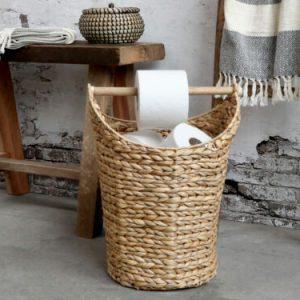 Korg med toalettpappershållare naturfärgad