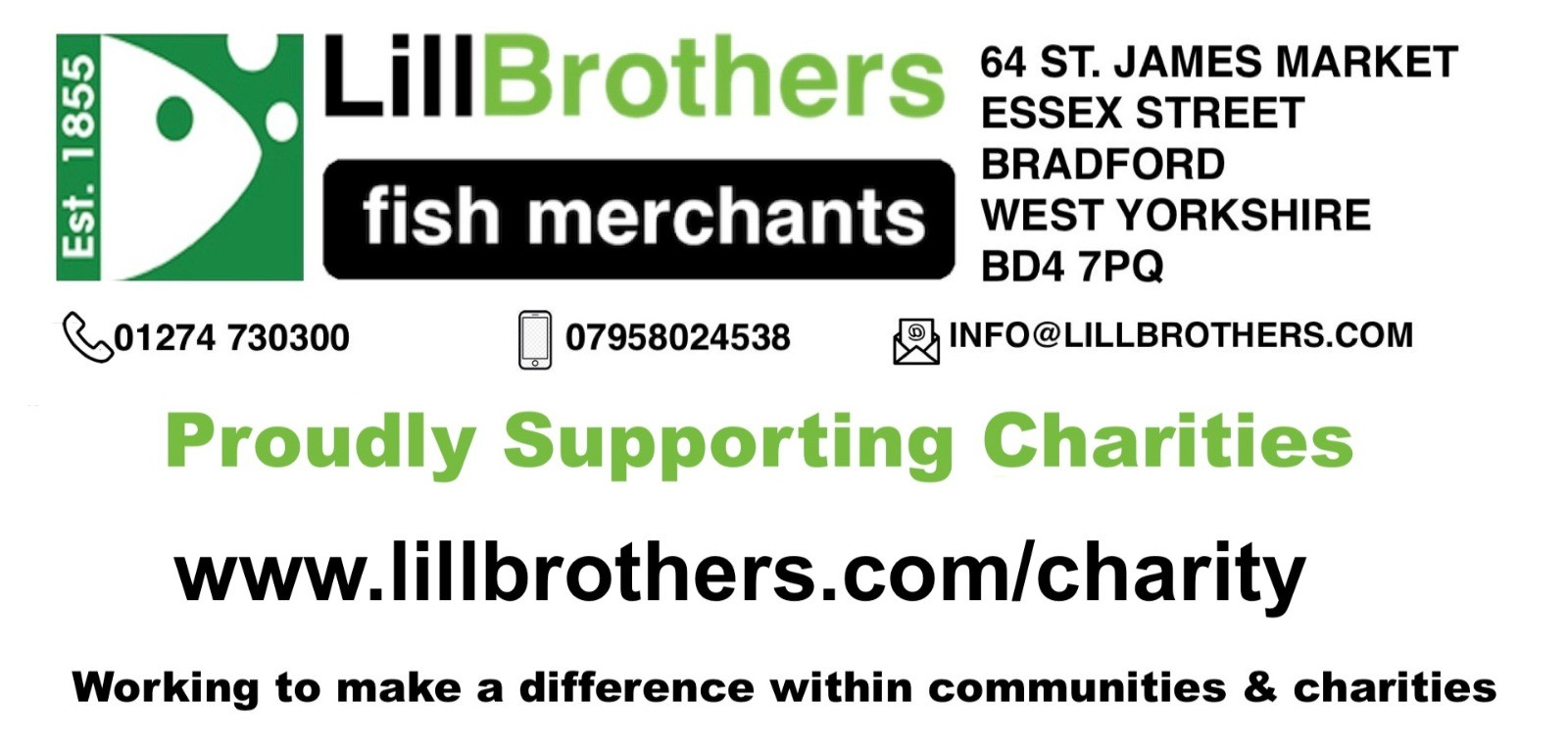 Lill Brothers Charity Banner
