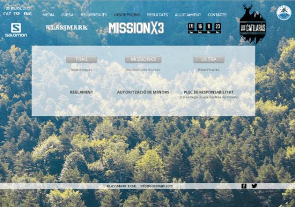 Inscripcions MISSIONX3 TrailCatllaras 2015