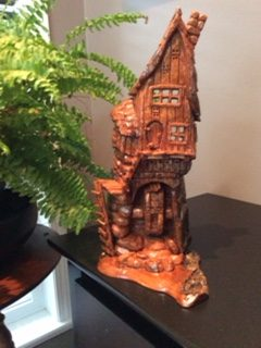 Whimsical Cottonwood Bark Carving 3