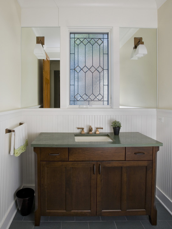 Powder Room Vanity Leaded Glass Window (Chicago)