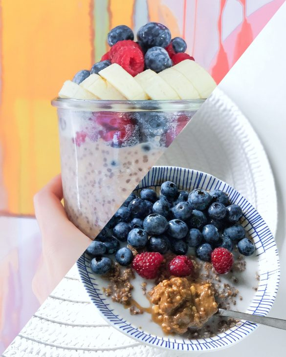 Slipt screen - overnight oats and chia pudding