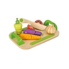 Schneidebrett mit Gemüse