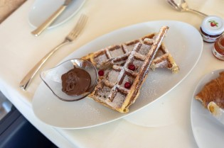 Belgische Waffeln zum Frühstück