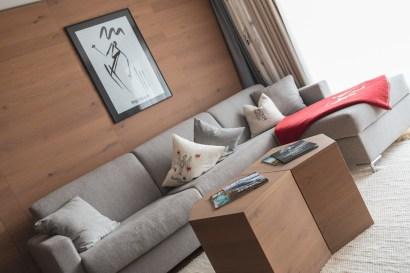 Wohnzimmer in der Suite