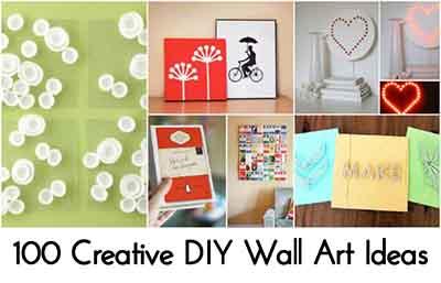100 Creative DIY Wall Art Ideas - Lil Moo Creations on Creative:kqmwrvdqiag= Wall Art Ideas  id=40527