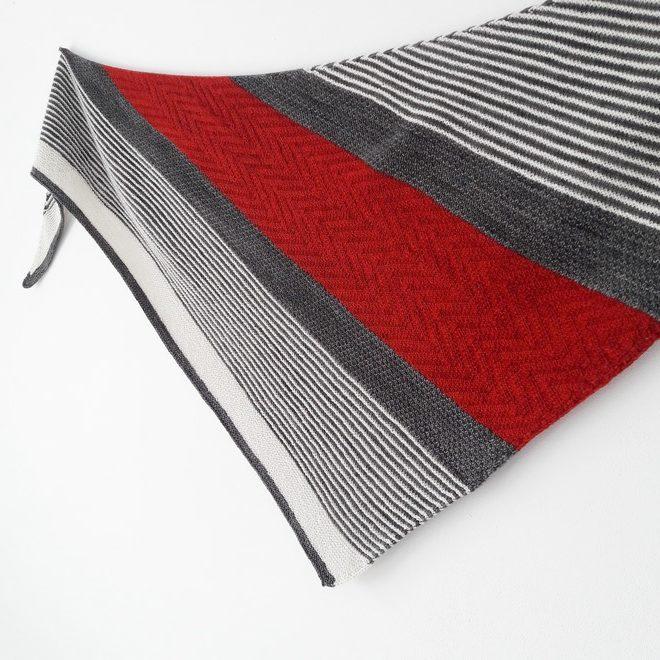Modele de chale à tricoter Asiri de Lilofil