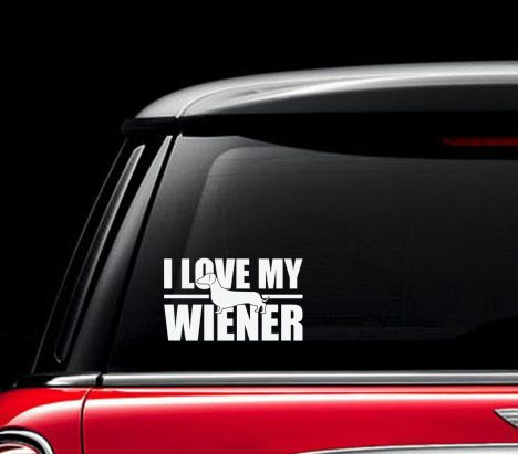 I Love My Wiener Decal