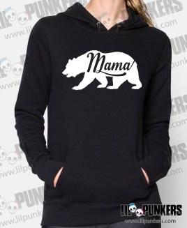 mama-bear-Womens-Black-Hoodie