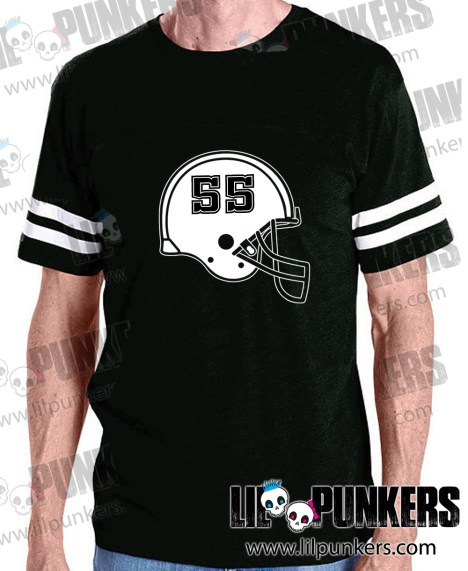 football-helmet-birthday-black-mens-football-shirt