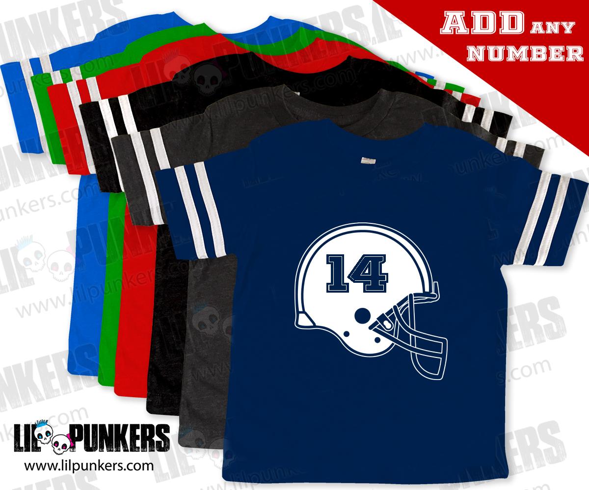 Football Helmet Design Birthday Shirt