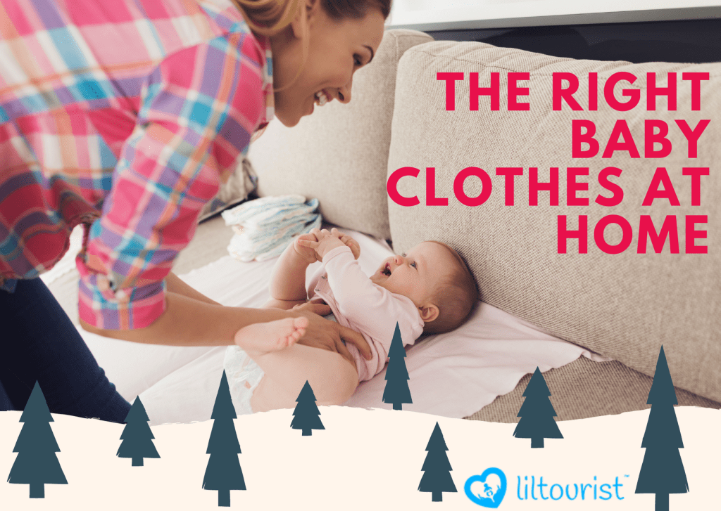 The right baby clothes at home in winter