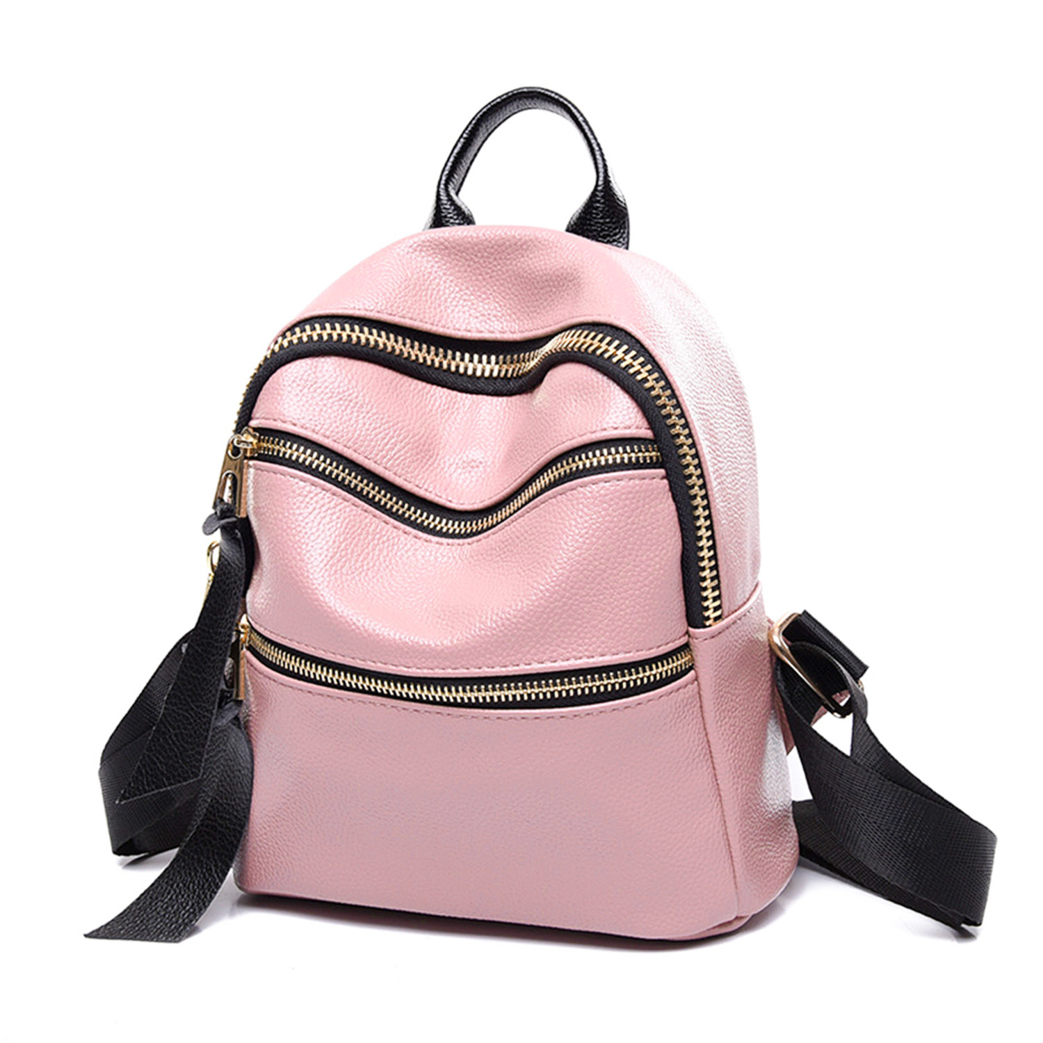 NEW: Pink PU Leather Mini Backpack Purse V2