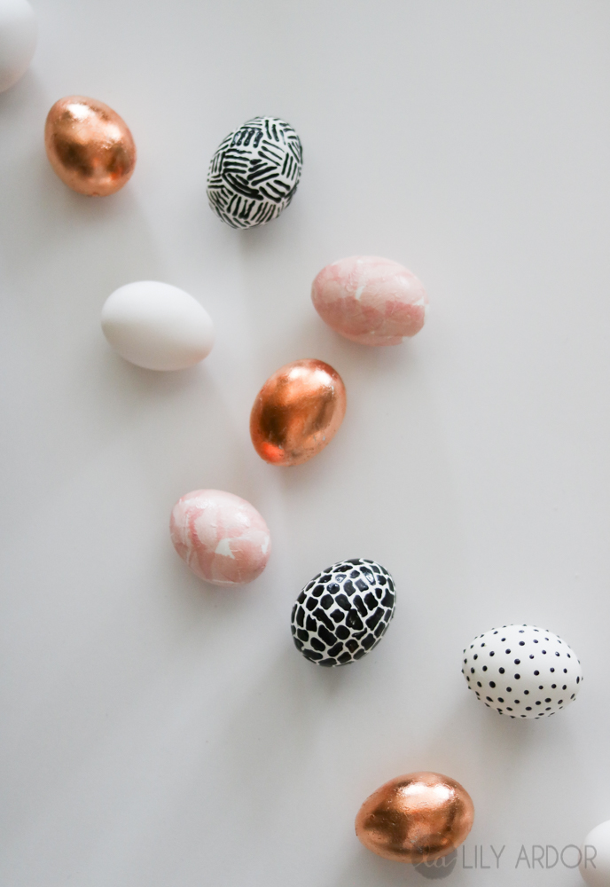 Snippet Copper Tips The Nailasaurus: Modern EASTER EGGS DIY- Copper Leaf- 3d And Tissue Paper