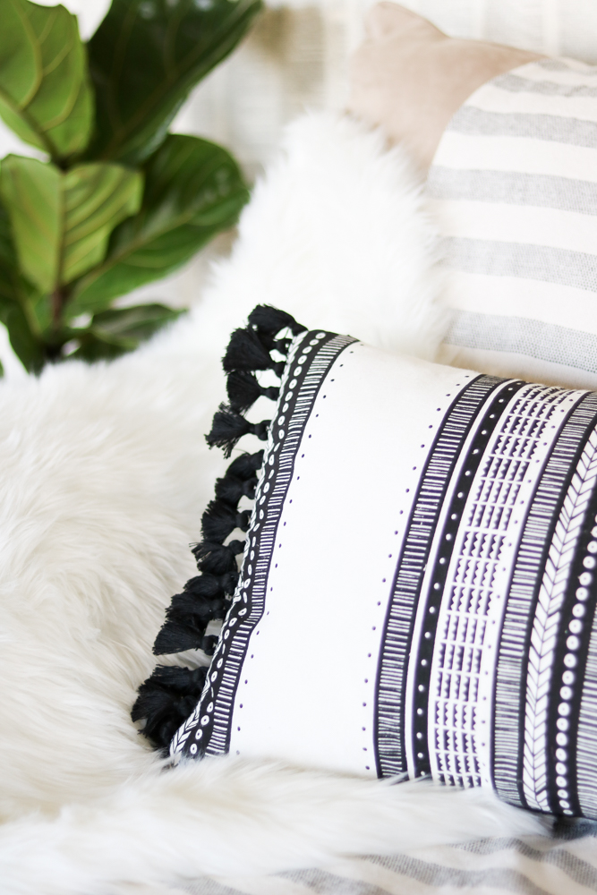 Tassel Throw Pillow DIY