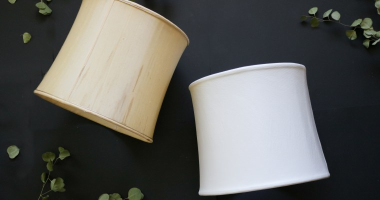 DIY Lampshade (recover) before and after