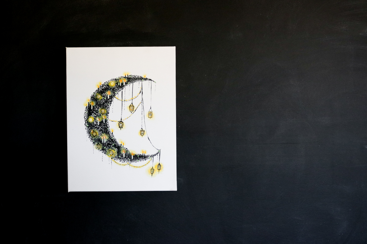 Light Up Halloween Moon DIY