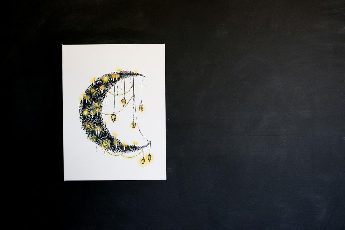 Light Up Halloween Moon DIY | Lily Ardor