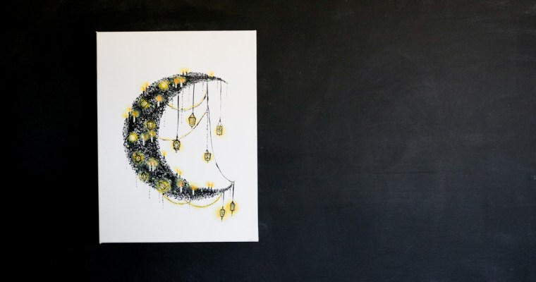 Light Up Halloween Moon DIY