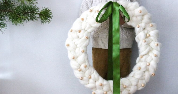 Chunky Knit Wreath (part 3 of chunky knit series)