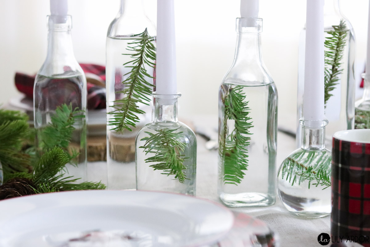 Easy Wine Bottles Centerpiece- DIY Centerpiece idea -