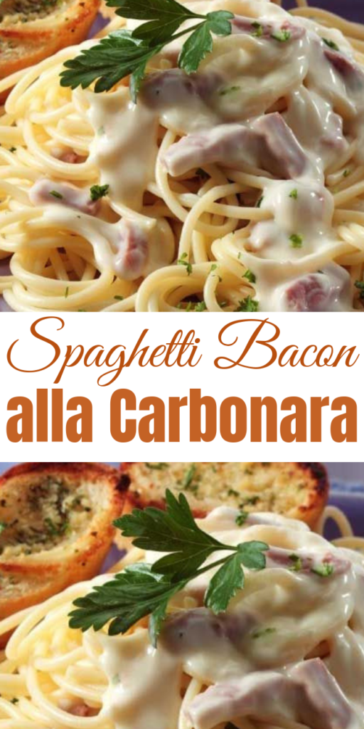 Spaghetti Bacon alla Carbonara - This Spaghetti Bacon alla Carbonara is a very traditional Italian recipe — very simple and easy but FULL of flavor. This stuff is the REAL DEAL. We devoured it!  #pasta #bacon #dinner #30minutes
