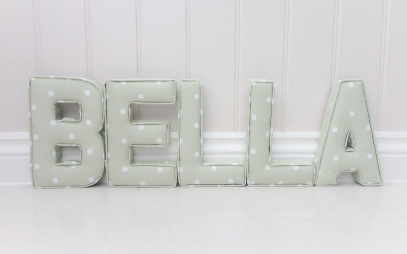 sage green nursery ideas childrens bedroom wall letters padded initials lilymae designs