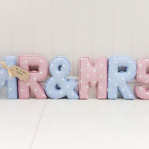 Mr Mrs Fabric letters. Venue decorations Wedding gift