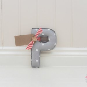 grey nursery fabric letters