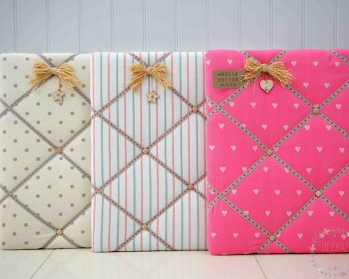 Selection of fabric memo boards Christmas presents