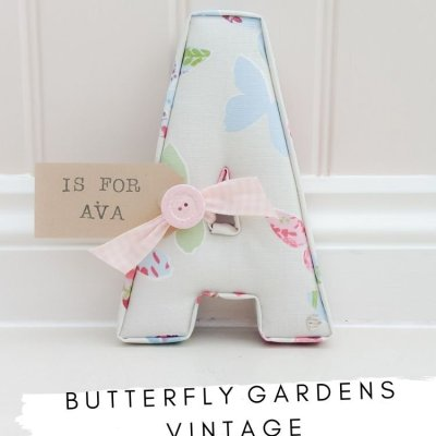 Butterfly Gardens Vintage fabric
