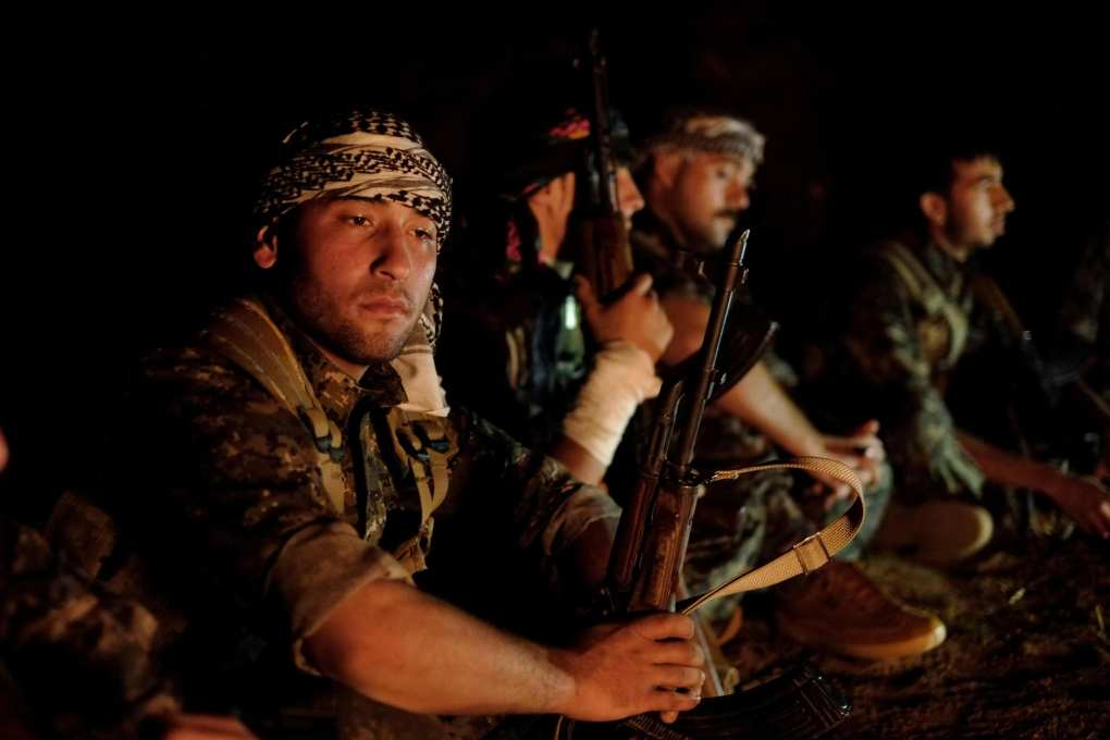 Image Fighters of the YPG Kurdish People's Protection Unit in Syrian Kurdistan, North Eastern Syria.