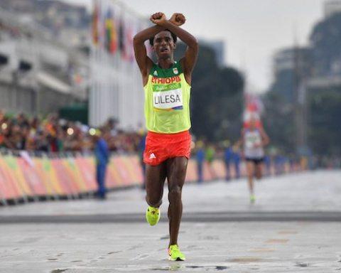 Image Feyisa Lilesa, Ethiopian Olympic Silver Medalist