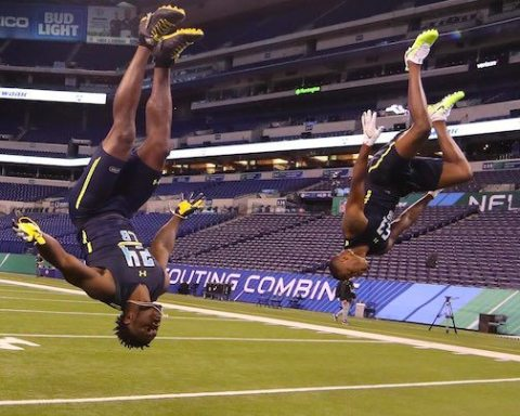Image Michael Tyson Jabrill Peppers NFL CombineMichael Tyson Jabrill Peppers NFL Combine