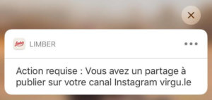 Notification Limber pour Instagram - Limber