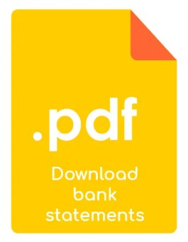 download pdf bank statements